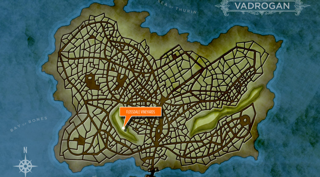 Map of Vadrogan with Flossdale Vineyards