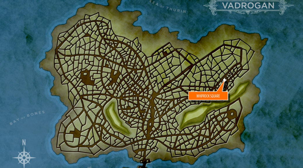 Map of Vadrogan with Saltside Market